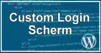 Custom Login Pagina & Scherm