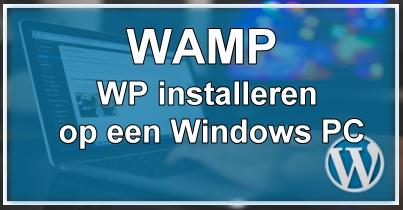 WordPress op de PC met WAMP