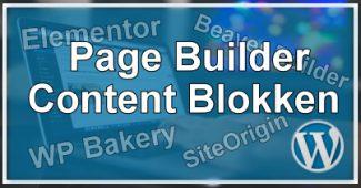 Page Builder Content Blokken