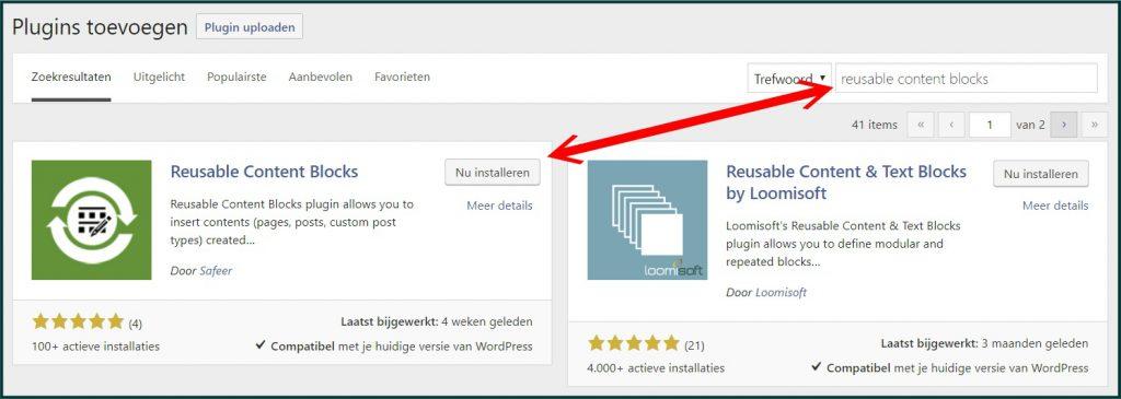 WordPress Page Builder Content Blokken Plugin