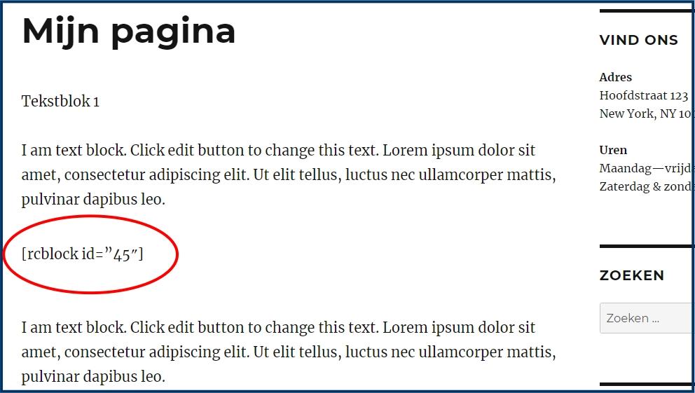 Shortcode na verwijderen plugin