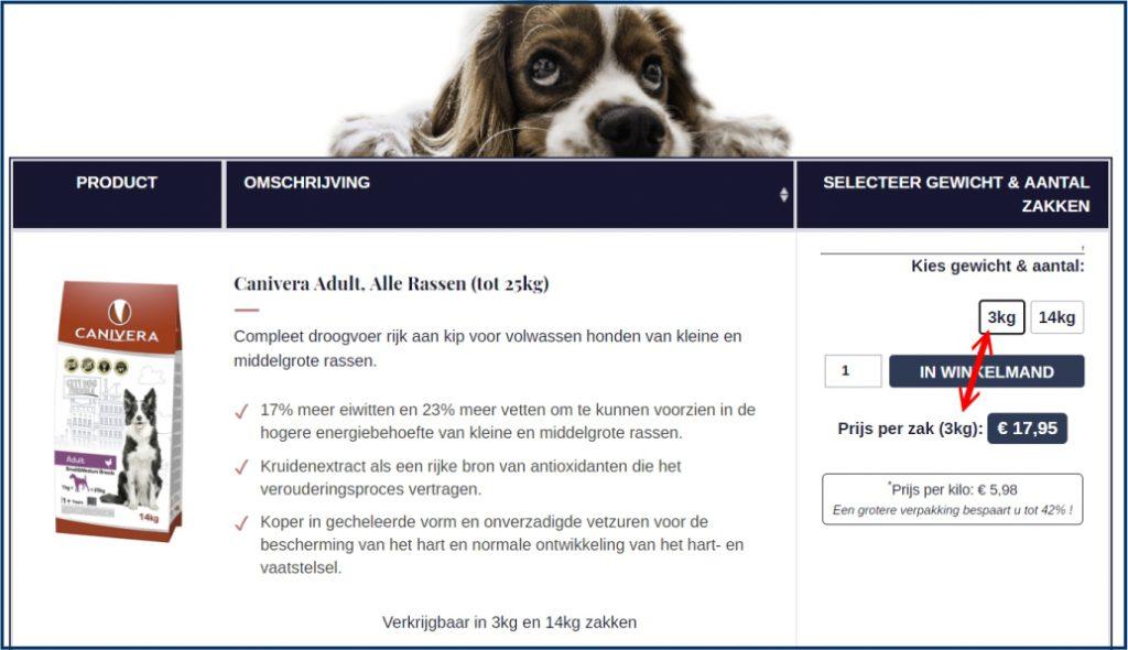 WooCommerce Variabele Product Prijs Tekst
