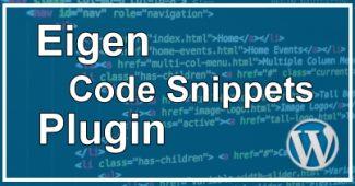 Eigen Code Snippet Plugin