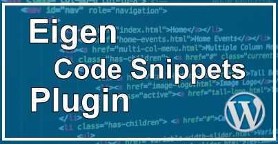 WordPress Eigen Code Snippet Plugin