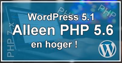 WordPress PHP Versie