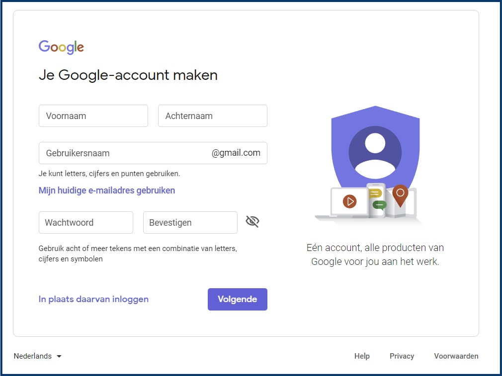 Gmail-account aanmaken