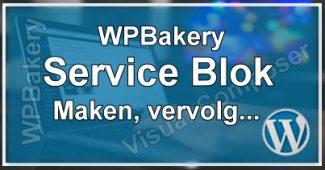 Eigen Elementen Maken - Service Blok