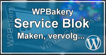 WPBakery Service Blok Maken