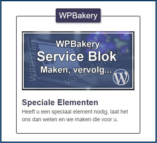 WPBakery Serviceblok met label