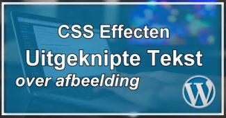 CSS Tekst Uitsnijden