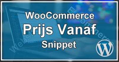 WooCommerce Vanaf Prijs
