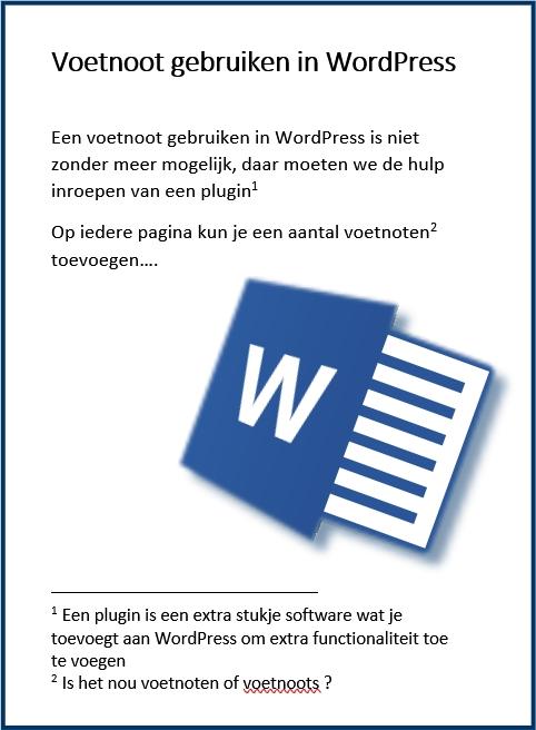 WordPress Voetnoot