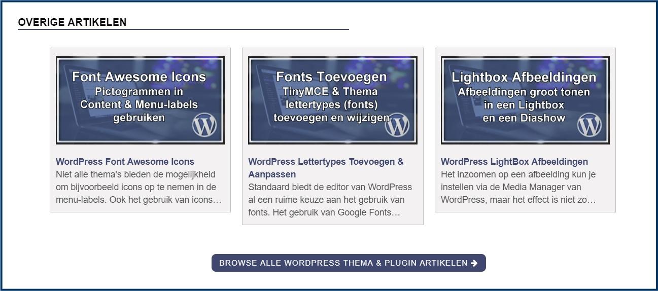 WordPress Gerelateerde Berichten