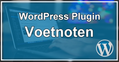 WordPress Voetnoot