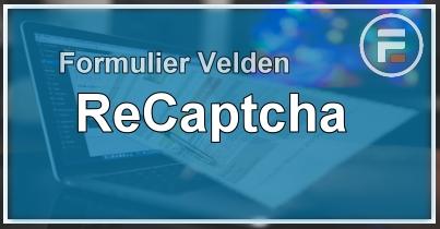 Formulier ReCaptcha