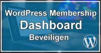 WordPress Dashboard Beveiligen