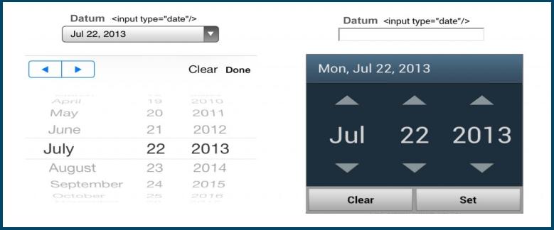 Datum Invoerveld Toetsenbord