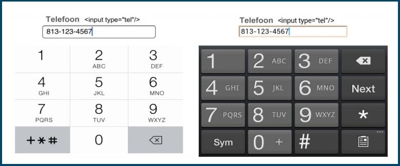 Mobiel Telefoon Toetsenbord