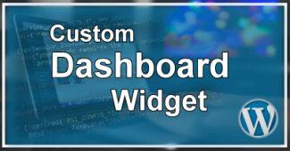 Eigen Dashboard Widget Maken
