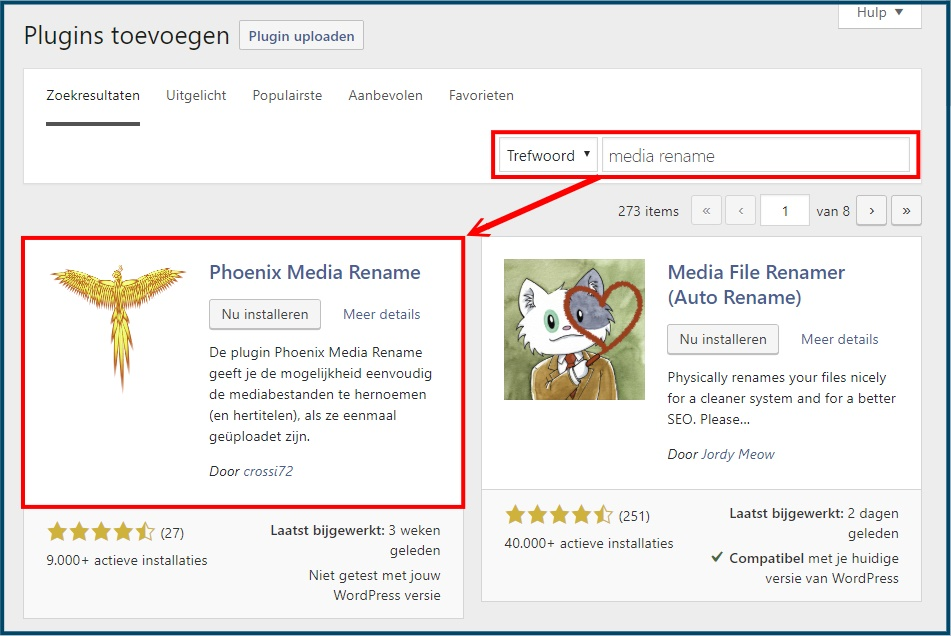 WordPress Plugin Media Rename