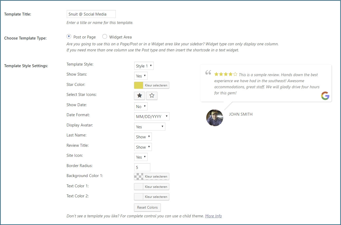 WordPress Recensie Slider