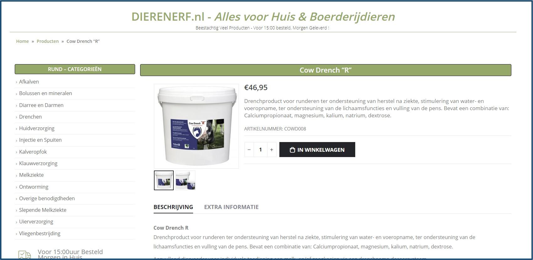 WooCommerce Product Detail Pagina met Categorieën