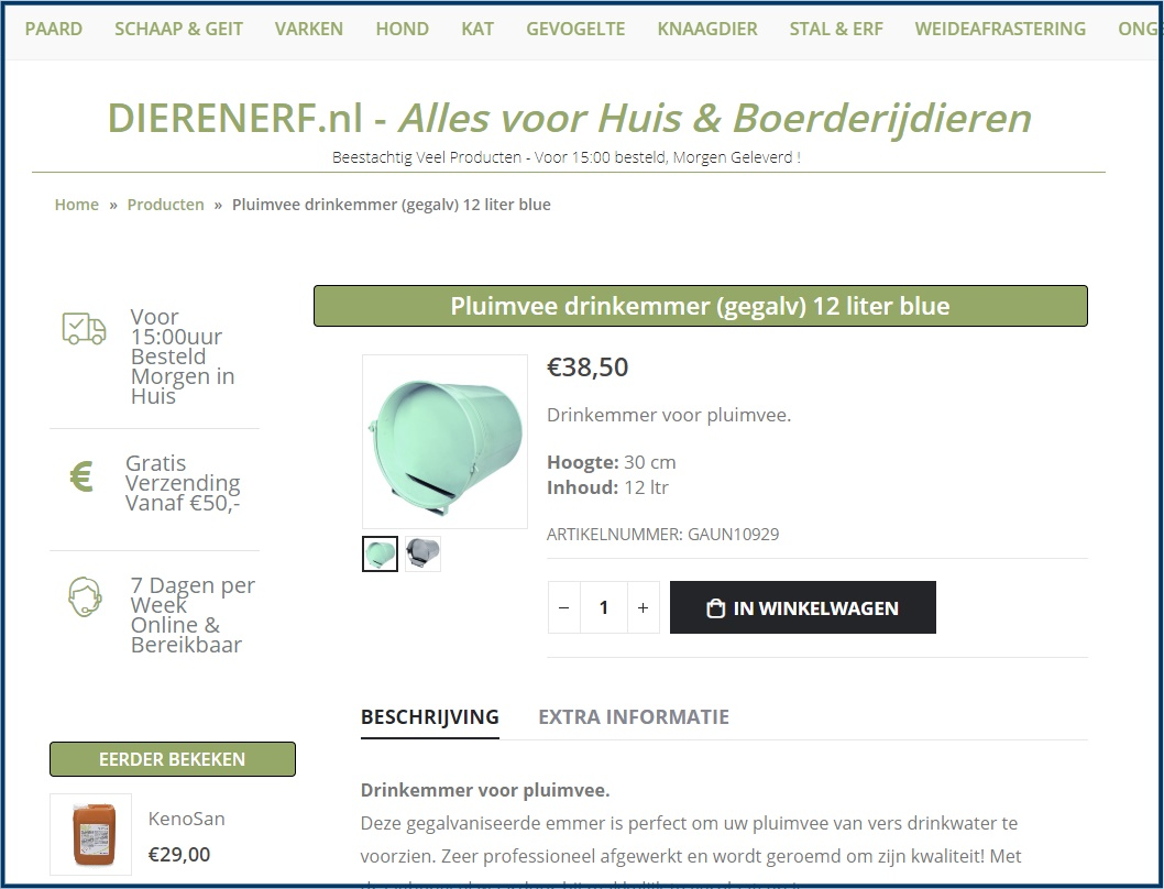 WooCommerce Product Detail Pagina