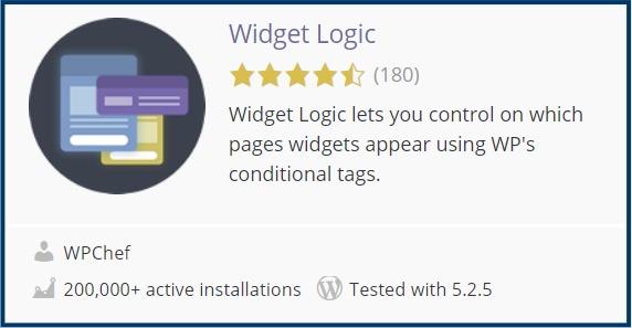 WordPress Plugin Widget Logic
