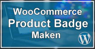 Product Badge Maken